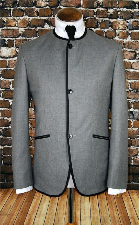 """Ringo"" Collarless Suit Classic Beatles Suit 3 Button"